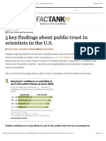 5 key findings about public trust in scientists in the U.S. | Pew Research Center