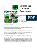 Bouncing Egg Experiment