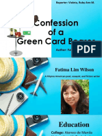 Confession of a Green Card Bearer
