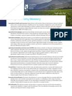 Agricultural Transformation Glossary