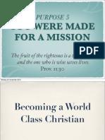 Rick Warren, Purpose Driven Life:Section 38