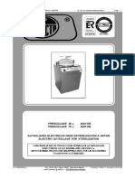 Selecta Presoclave 30, 75 Autoclave - Service and User Manual