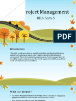 Project Management BBA 5th Sem