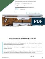 Cloud HRM  Payroll Software-Cloud HR software - online HRM Payroll Software