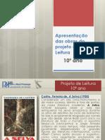Obras Do Projeto de Leitura 10º Ano