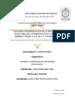CEMEX, S.a.B de C.v 2018 Análisis e Interpretación de Estados Financieros.