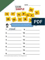 present simple verb games for ESL learner