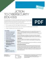 Edu 010 Iintroduction to Cybersecurity