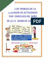Plan de Trabajo de la semana del niño 2019