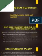 Transport ideas
