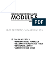 Phle Reviewer Module 5 Pharmaceutics