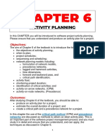 CHAPTER 6 - ACTIVITY PLANNING