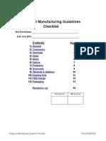 Manufacturing Design Checklist Updated 03-26-07