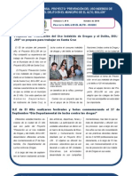 Proyecto BOL/J39 - El Alto - UNODC Boletín Nº 6
