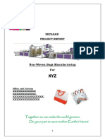 Project Report on Non-Woven Bags