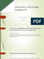 Psicoprevención y Psicología de La Emergencia