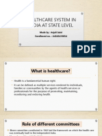 Healthcare System at State Level Ppt