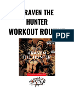 Kraven the Hunter Workout PDF