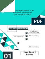 Psychological safety work culture