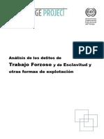 analisis de los delitos de trabajo forzoso y de esclavitud y otras formas de explotacion
