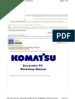 Komatsu Excavator PC Workshop Manual