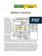 Ballista Calculator