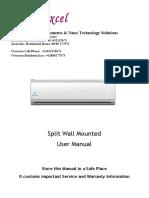 excel designs developments solutions  new 2019 ICE SOLAIR User Manual_v11 160526_Split System_p.pdf