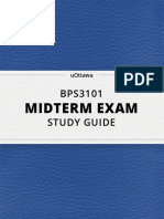 BPS 3101 Mid 1 Study Guide