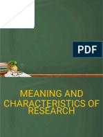 3. Characteristics of Research