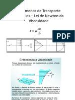 Exercícios – Lei de Newton da Viscosidade