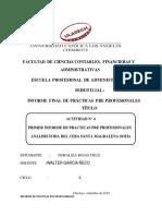 Prácticas Pre Profesionales 3er Informe