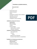 Estructura Del Programa de Gobierno Municipal