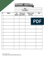 Documento 2 Lista de Participantes