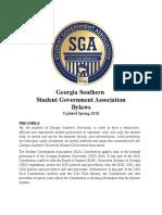 SGA Bylaws and Procedures