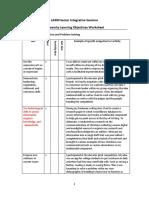 university learning objectives final sheet