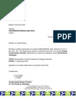 Carta Verificacion Titulo - Especializacion