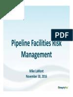 Pipeline Facilities Risk Management