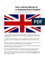 How to Use Linking Words to Speak More Sophisticated English