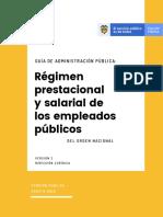 Guía de Administración Pública - Régimen prestacional y salarial de los empleados públicos del orden nacional - Versión 3 - Agosto 2019.pdf