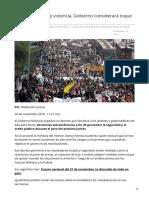 Eltiempo.com-Paro Del 21 Si Hay Violencia Gobierno Considerará Toque de Queda