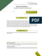 Empresas Familiares Conceptos, Teorías y Estructuras Revista Escuela de Administración de Negocios