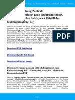 Training Zentrale Mittelstufenprufung Neue Rechtschreibung Bd 2 Schriftlicher Ausdruck Mundliche Kommunikation