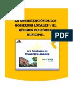 Titulo i La Organización de Los Gobiernos Locales