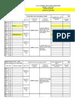 Budget of Work School Calendar Science 1 (1)