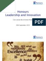 Honours Presentation 2019 Cohort 7 Delft