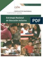 Estrategia Educacion Inclusiva
