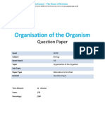 2 - Organisation of the Organism - Cie Igcse Biology - Practicals - Qp