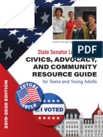 Senator Krueger's Civics, Advocacy, and Community Resource Guide for Teens and Young Adults