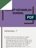 6. Konsep Kehamilan Normal