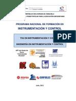 P.N.F en Instrumentación y Control 2012